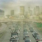 Typical freeway smog scene